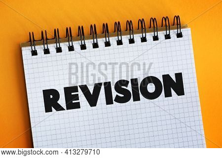 Revision Text On Notepad, Education Concept Background