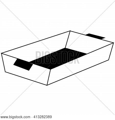 Baking Tray Icon On White Background. Flat Style. Baking Sheet Symbols. Baking Tray Sign.