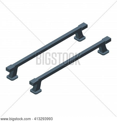 Car Roof Bars Icon. Isometric Of Car Roof Bars Vector Icon For Web Design Isolated On White Backgrou