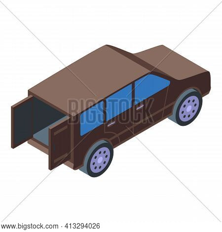 Doors Trunk Car Icon. Isometric Of Doors Trunk Car Vector Icon For Web Design Isolated On White Back