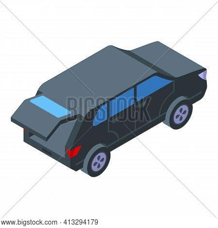 Unlock Trunk Car Icon. Isometric Of Unlock Trunk Car Vector Icon For Web Design Isolated On White Ba
