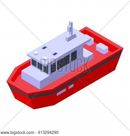 Aid Rescue Boat Icon. Isometric Of Aid Rescue Boat Vector Icon For Web Design Isolated On White Back