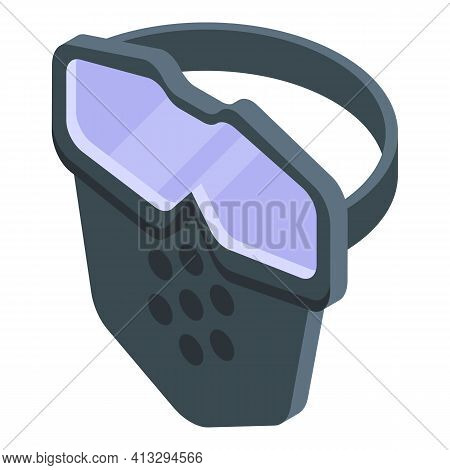 Face Shield Clean Icon. Isometric Of Face Shield Clean Vector Icon For Web Design Isolated On White