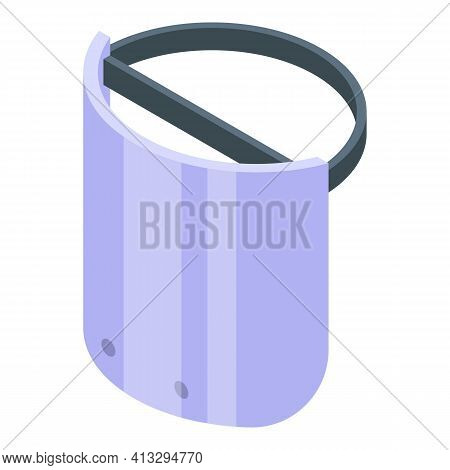Hospital Face Shield Icon. Isometric Of Hospital Face Shield Vector Icon For Web Design Isolated On