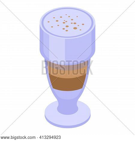Latte Aromatic Icon. Isometric Of Latte Aromatic Vector Icon For Web Design Isolated On White Backgr