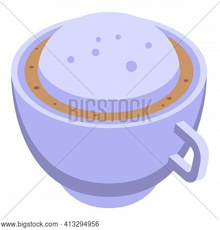 Latte Aromatic Cup Icon. Isometric Of Latte Aromatic Cup Vector Icon For Web Design Isolated On Whit