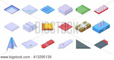 Handkerchief Icon. Isometric Of Handkerchief Vector Icon For Web Design Isolated On White Background