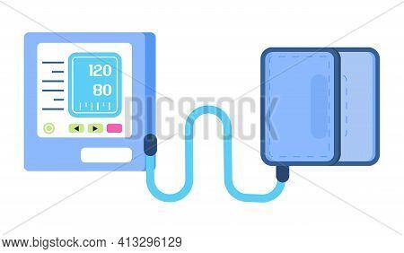 Tonometer Icon. Blood Pressure Measurement Device. Medical Instrument Icon Vector. Hypertensive Symb