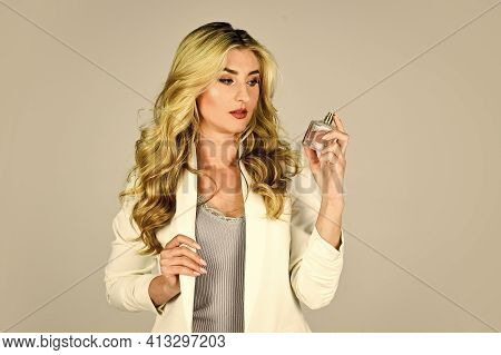 Cosmetic Care. Female Fragrance And Perfumery, Cosmetics. Fashion And Beauty. Lady Prefer Expensive