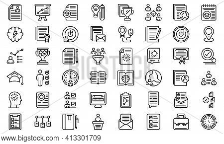 Education Workflow Icon. Outline Education Workflow Vector Icon For Web Design Isolated On White Bac
