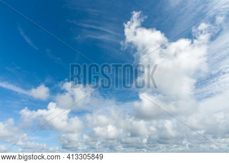 High resolution beautiful blue sky with clouds background