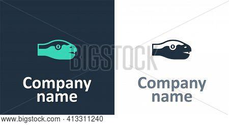 Logotype Snake Icon Isolated On White Background. Logo Design Template Element. Vector