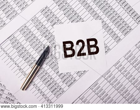 B2B Acronym, Inscription. Business To Business Concept