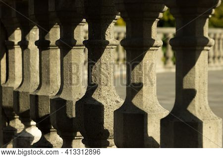 Baroque Balustrade Element, Late In The Evening