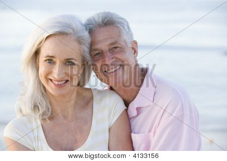Couples At The Beach Smiling