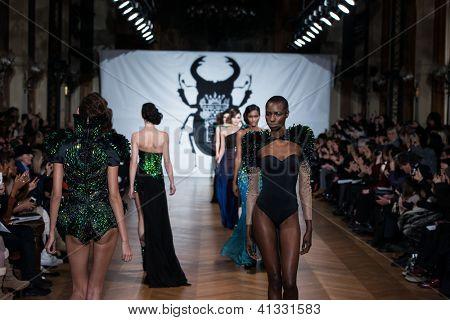 PARIS - JANUARY 23, 2013 : on aura tout vu spring summer 2013 fashion show at Paris fashion week January 23, 2013 in Paris ,France