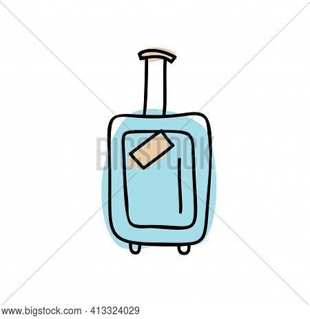 Time To Travel, Vacation Planning Concept Illustration With Hand Luggage Suitcase Of Tourism, Journe