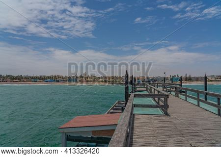 View From The Jetty To Swakopmund City In Summer On A Sunny Day Namibia, Africa