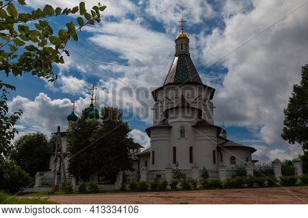 Church Of St. Nicholas The Wonderworker In The Village Of Nikulino, Istra District, Moscow Region, R