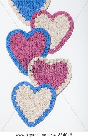 Crochet Knitted Hearts