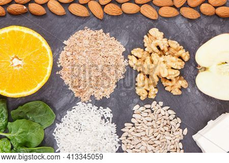 Nutritious Products Containing Vitamin P. Natural Sources Of Minerals. Healthy Nutrition
