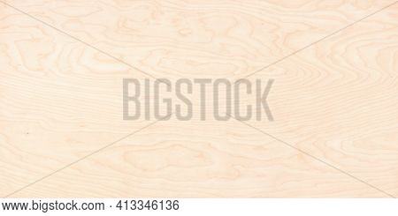 Light Plank As A Wooden Background, Wood Texture With Natural Pattern. Beige Wood Board With Natural