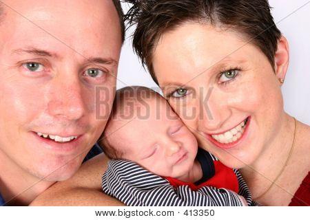 einer glücklichen Familie