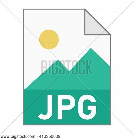 Modern Flat Design Of Jpg Illustration File Icon For Web