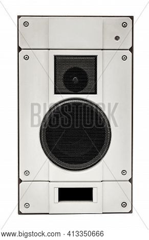 Audio Speaker Isolated On A White Background.