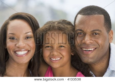 Families Outdoors Smiling