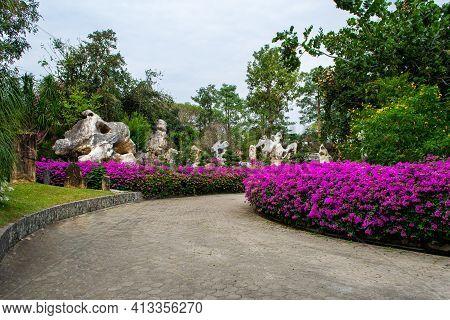 Pattaya, Thailand -january 18,2019 The Million Years Stone Park And Pattaya Crocodile Farm.