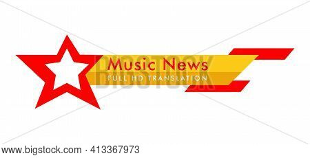Breaking News. Lower Third Tv News Bar Vector Illustration. Live News. Banner For Broadcasting Telev