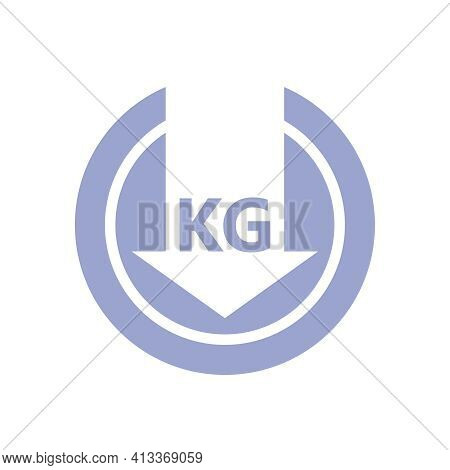Lose Weight Graphics Icon. Sign Reduce Weight Isolated On White Background. Symbol Of Healthy Lifest