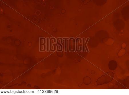 Blood Splatter. Watercolor Valentine Wallpaper. Bloody Halloween Texture. Splat Of Maroon Stain. Blo