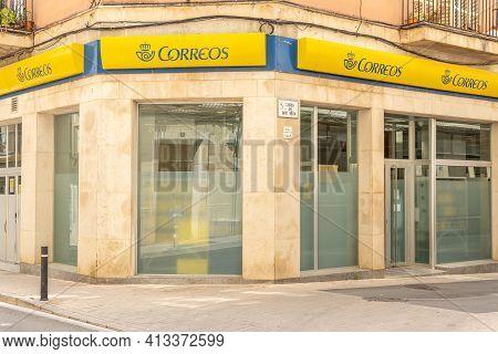 Manacor, Spain; March 18 2021: General View Of An Office Of The Company Sociedad Estatal De Correos