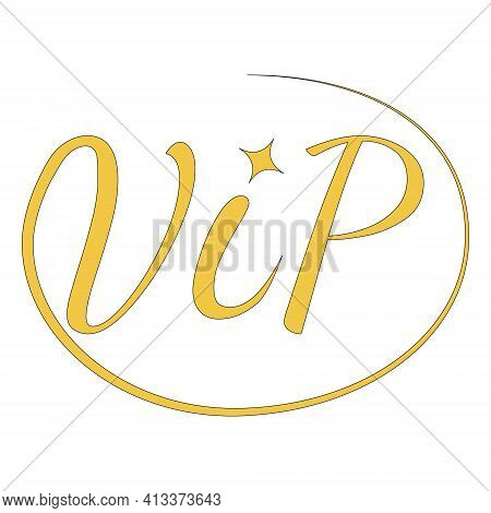 Icon Sign Vip Very Important Person Vector Calligraphy Word Vip