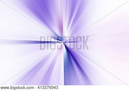 Abstract Radial Zoom Blur Surface Of   Lilac And White Tones. Abstract Delicate Lilac White Backgrou