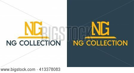 Ng Business Logo Icon Design Template Elements. Vector Color Sign.