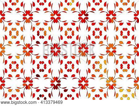 Polish Traditional Floral Folk Art Vector Long Vertical Design Elements Inspired By Old Embroidery -