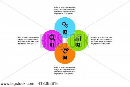 Vector Circle Design Template Infographic For Illustration. Timeline Business Infographic Template W