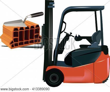 Forklift Carrying Bricks Forklift Carrying Bricks Forklift Carrying Bricks Forklift Carrying Bricks