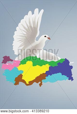 Dove Of Peace On Turkey Dove Of Peace On Turkey