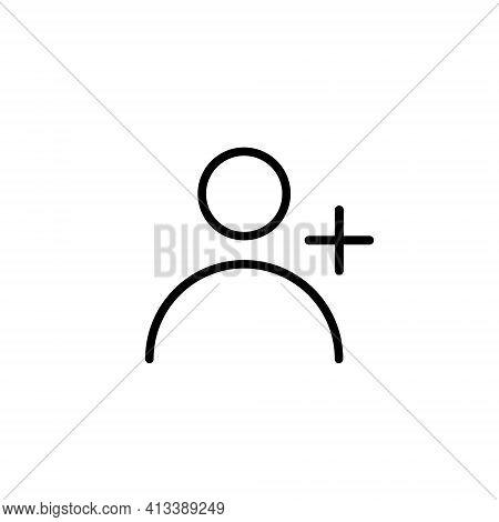Add Contact Icon Vector. Adding User Symbol Image