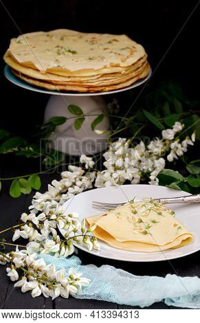 Vegan Black Locust Flower Pancakes Recipe With Foraged Ingredients .