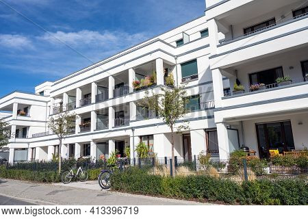 Modern Multi-family Apartment House Seen In Berlin, Germany