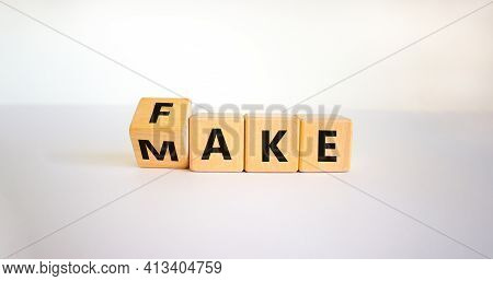 Fake It Until You Make It Symbol. Turned A Cube And Changed The Word 'fake' To 'make'. Beautiful Whi