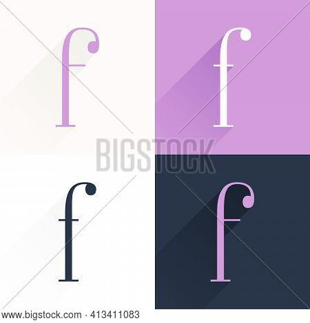 F Letter Condensed Serif Font Set. Perfect To Use In Elegant Branding, Luxury Logo, Wedding Invitati