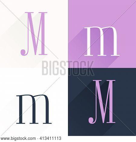 M Letter Condensed Serif Font Set. Perfect To Use In Elegant Branding, Luxury Logo, Wedding Invitati