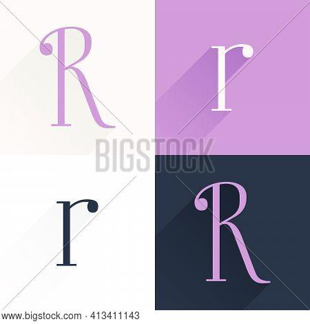 R Letter Condensed Serif Font Set. Perfect To Use In Elegant Branding, Luxury Logo, Wedding Invitati