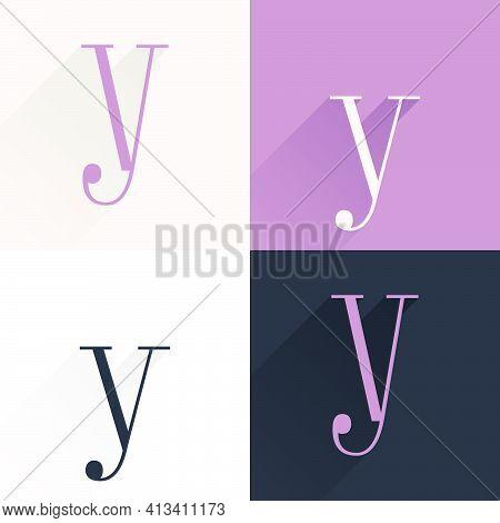 Y Letter Condensed Serif Font Set. Perfect To Use In Elegant Branding, Luxury Logo, Wedding Invitati
